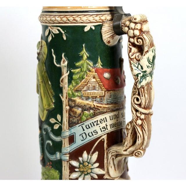 1900s 1.5 Liter Beer Stein by Karl Beuler Germany - Image 5 of 6