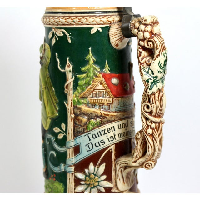 Image of 1900s 1.5 Liter Beer Stein by Karl Beuler Germany
