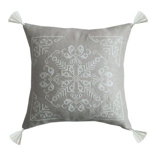 Moroccan Taupe Linen Pillow