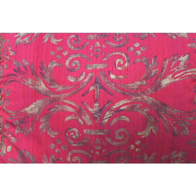 Isabelle H. Fortuny Style Hand-Painted Cherry Pillow Cover - Image 4 of 8
