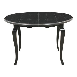 French Style Carved Round Plank Wood Dining Table