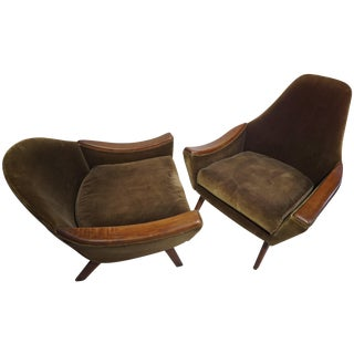 Adrian Pearsall His & Hers Club Chairs - Pair