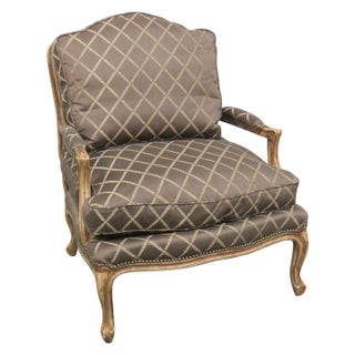 Louis XVI Style Carved Bergere Chair