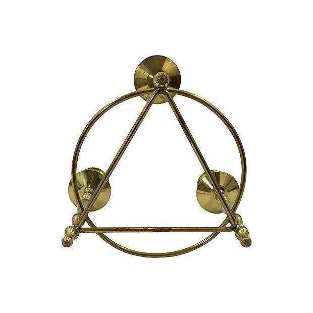 Brass Deco-Style Tripod Candelabra - Image 4 of 4