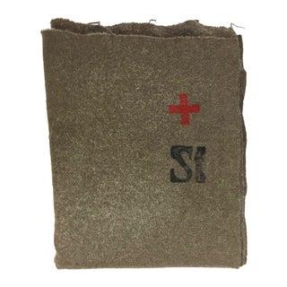 Swiss Army Wool Blanket 1940s