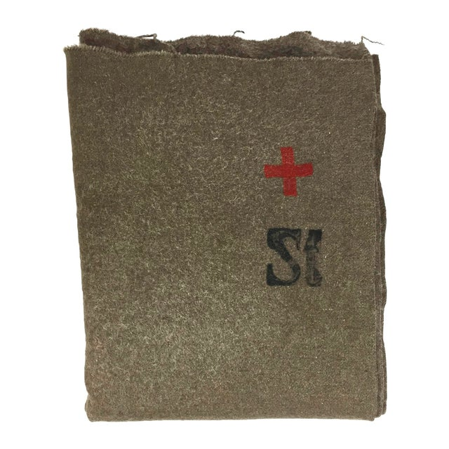 Swiss Army Wool Blanket 1940s - Image 1 of 7