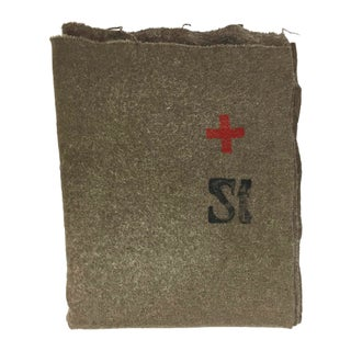 Swiss Army Wool Blanket 1940s