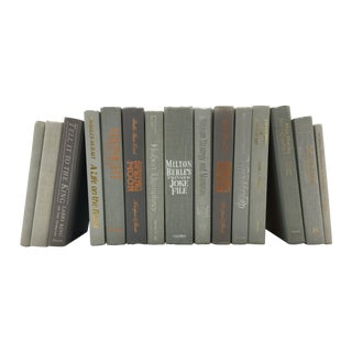 Gray Decorative Book Collection -  Set of 15