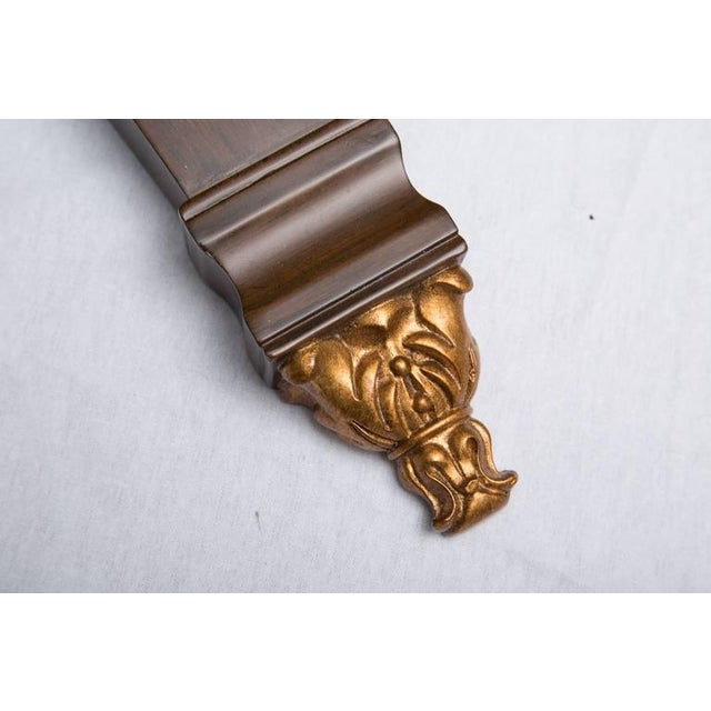 Pair of Rosewood Grain Painted and Gilt Composition Brackets - Image 3 of 5