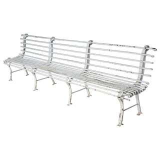 Long Early 20th Century Painted Iron Bench