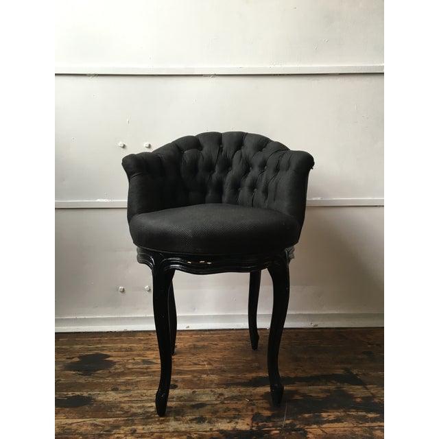 Noir Tufted Swiveling Vanity Chair - Image 2 of 6