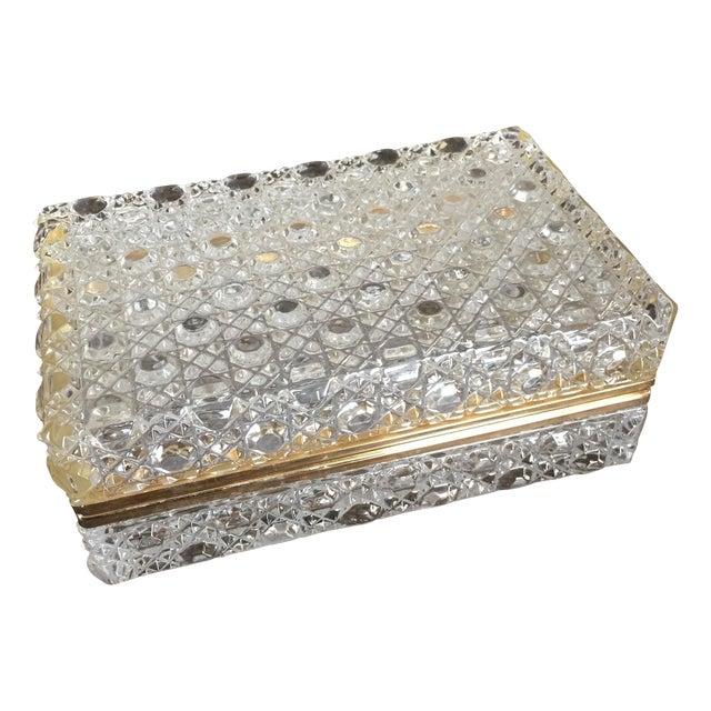 Vintage Crystal Jewelry Box - Image 1 of 7
