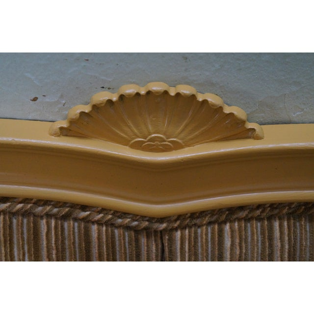 Vintage French Louis XV Style Tufted Upholstered King Headboard - Image 6 of 10