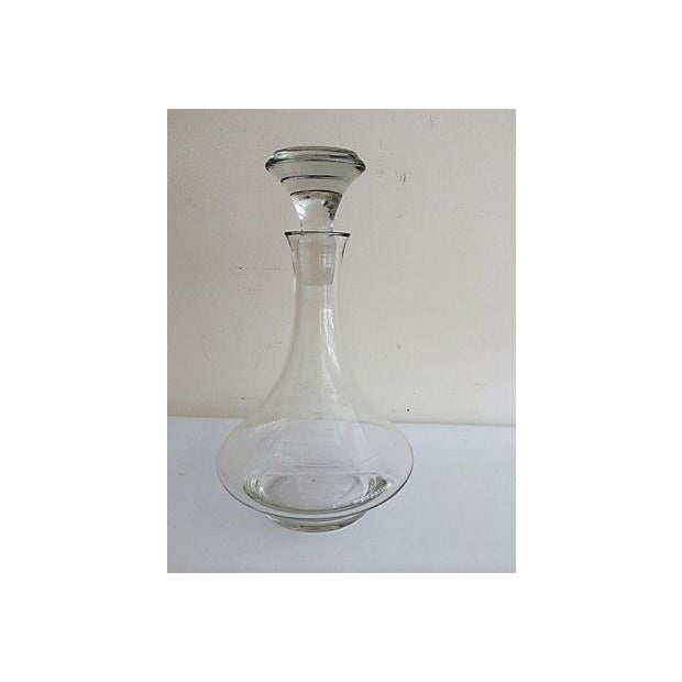 Italian Etched Sailboat Decanter Chairish