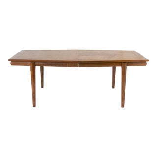 Cal-Mode Dining or Conference Table with Burlwood Inlay