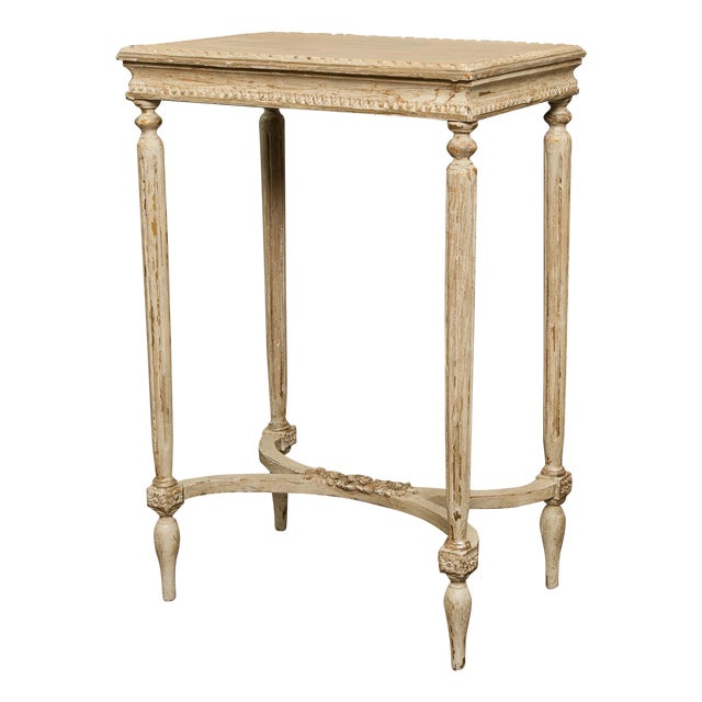 Antique French Carved Side Table - Image 1 of 7