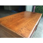 Image of Antique 1930s Solid Walnut Executive Desk