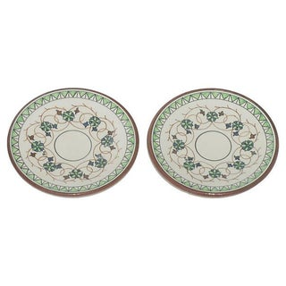 European Terracotta Tapas / Olive Oil Dishes - Pair