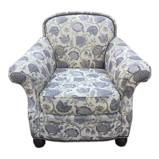 Jacobean Print Club Chair