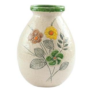 Italian Rosenthal Netter Floral Pottery Vase
