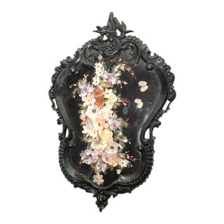 Carved Frame with Shell Floral Display