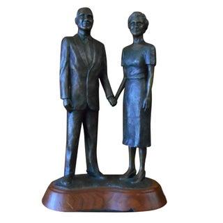 Signed David Chapple Bronze Couple Statue