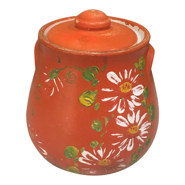 Orange Floral Cookie Jar - Image 1 of 8