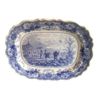 English Blue Transferware Platter