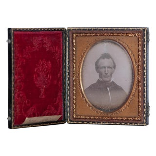 Antique Daguerreotype With Case and Name
