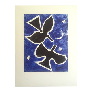 "1956 Georges Braque ""Two Birds"" Original Lithograph"