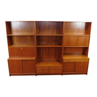 1970's Teak 6-Piece Bookcase Wall Unit