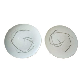 "Russel Wright ""Grass"" Pattern Plates - A Pair"