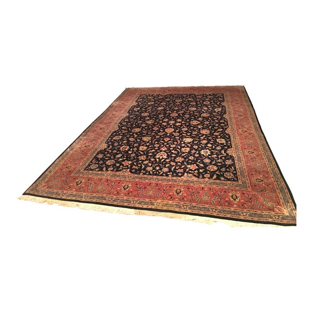 "Vintage Persian Area Rug - 9'x12'7"" - Image 1 of 11"