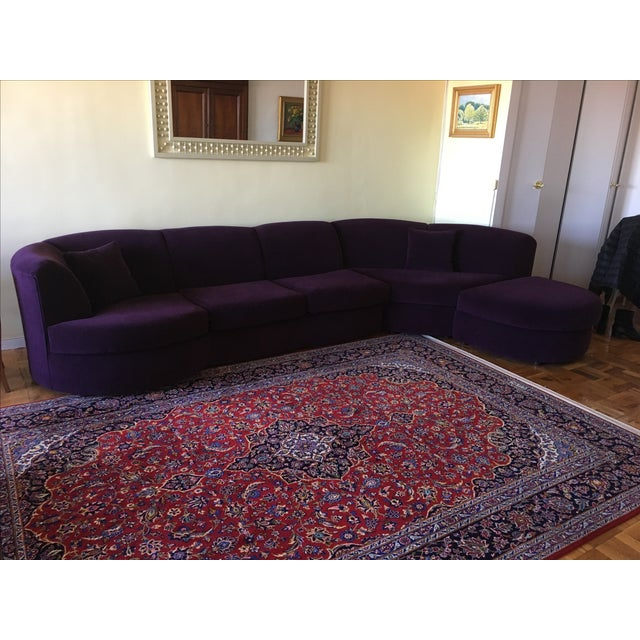 Weiman Sectional Sofa in Plum - Image 2 of 8