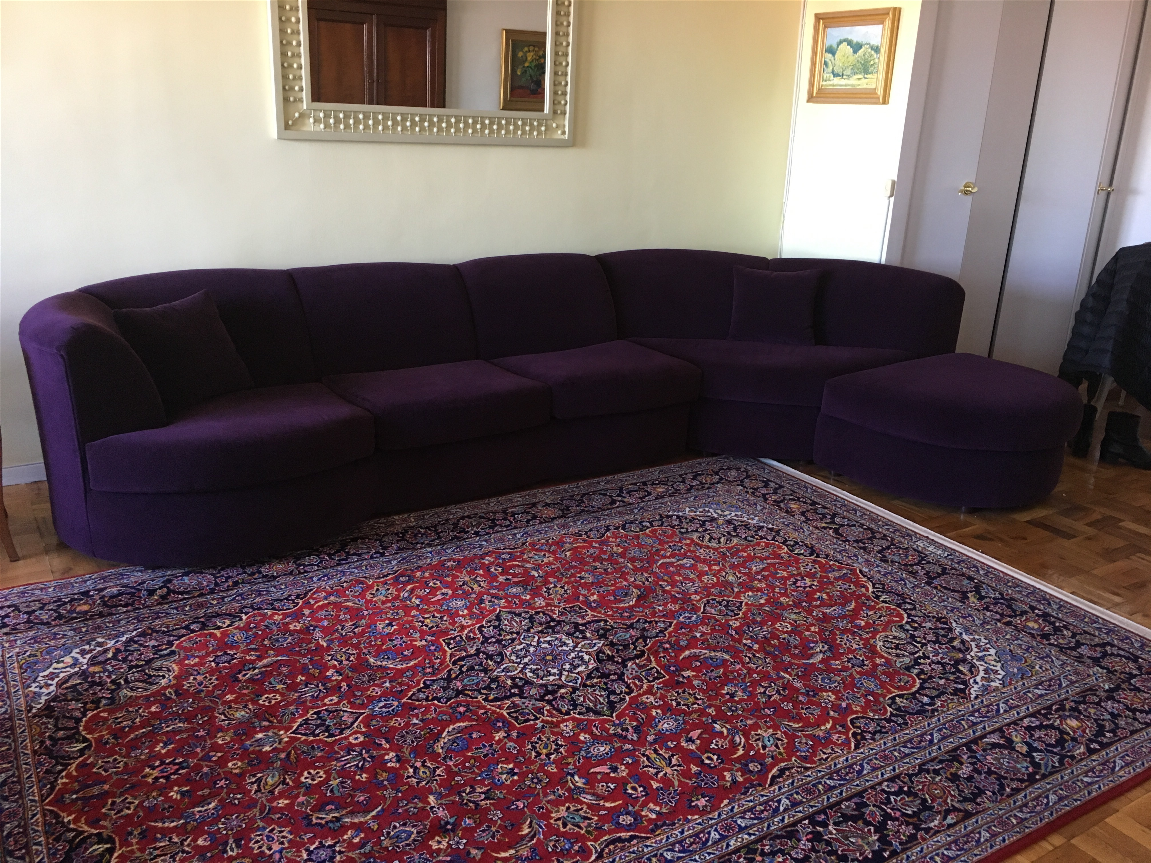 Weiman Sectional Sofa in Plum - Image 2 of 8  sc 1 st  Chairish : plum sectional sofa - Sectionals, Sofas & Couches