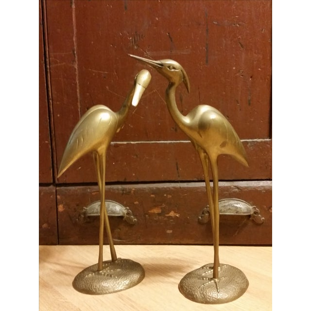 Hollywood Regency Brass Herons - A Pair - Image 2 of 7