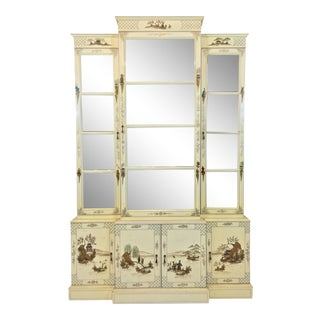 1960s Chinoiserie Mirrored Cabinet