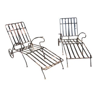 Mid-Century Woodard Chaise Lounges - Pair
