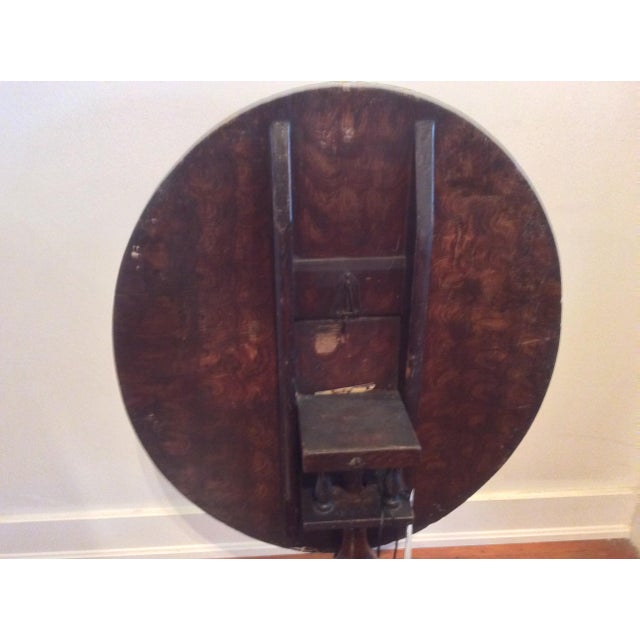 18th Century Dutch Tilt Top Table With Still Life - Image 11 of 11
