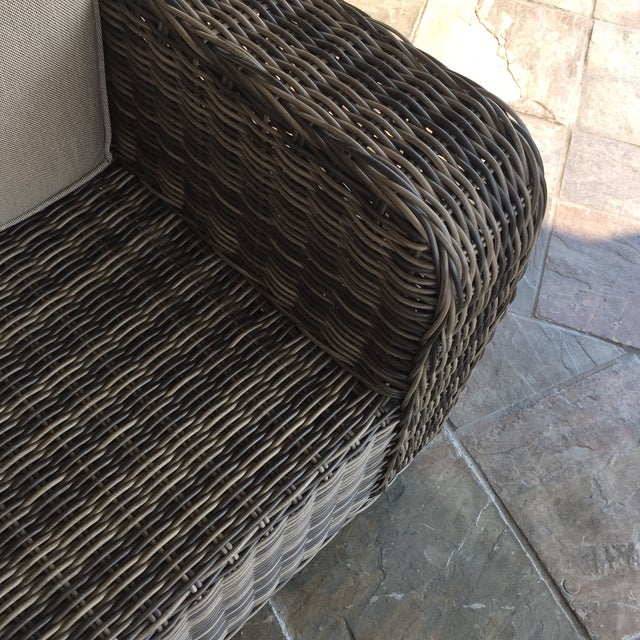 Woven Outdoor Lounge Chair - Image 5 of 7