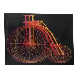Vintage Bicycles Silkscreen Print