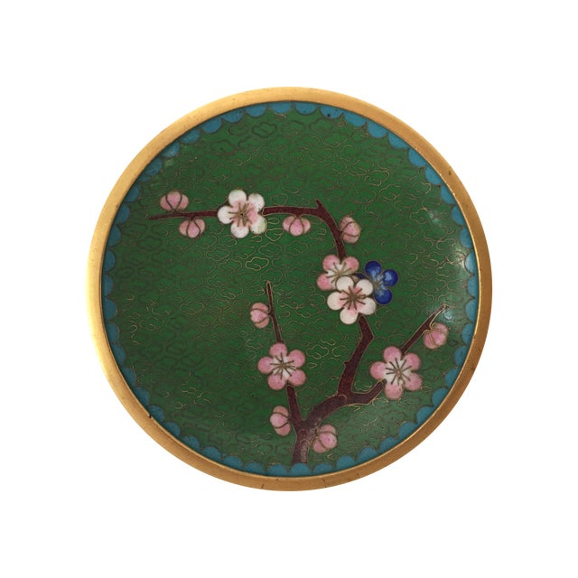 Small Green Cloisonne Dish - Image 1 of 6