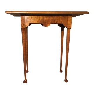 Eldred Wheeler Handmade Tiger Maple Tea Table