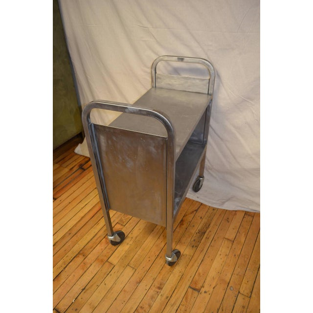 Image of Stainless Steel Wheeled Cart