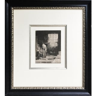 """Rembrandt's Etching """"Faust"""" Reprint 1878 by Amand Durand"""