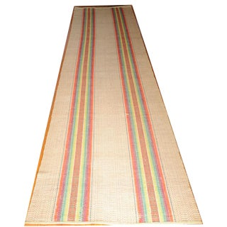 Amish Rainbow Striped Rag Rug - 2′11″ × 12′3″