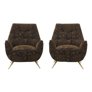 Pair of Italian Lounge Chairs in the Style of Marco Zanuso