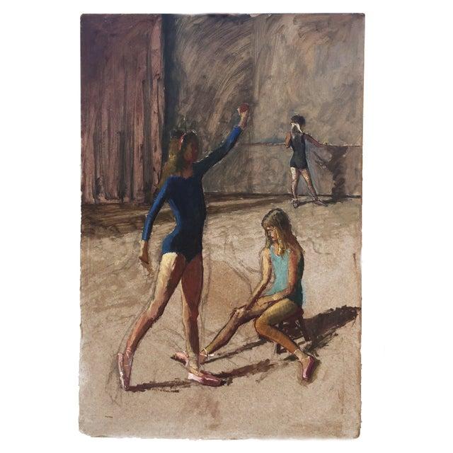 Image of Original Oil Painting - Ballerina