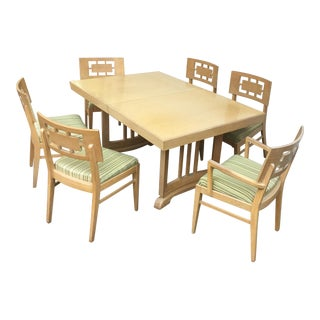 1960s Blonde Modern Dining Set