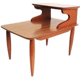 Danish Modern Laminate Step Table